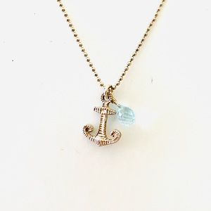 Anchor Necklace Sterling Silver